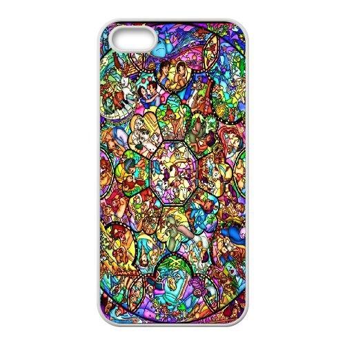 Disney-Buntglas iPhone 4 4S Handy-Fall hülle weiß I6E3PEVHEW