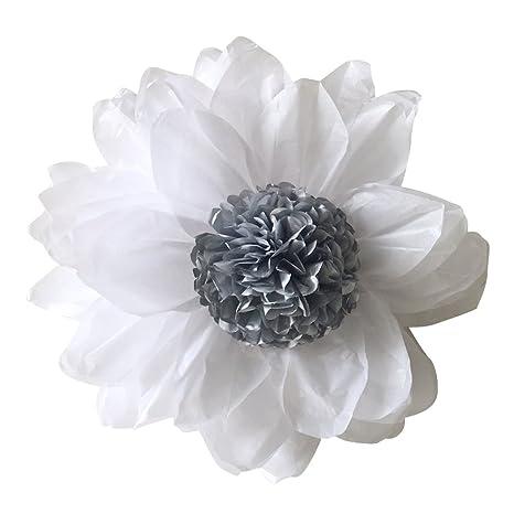 Dige n27gp23/ARG, – Lote de 2 flores grandes en papel de seda 45
