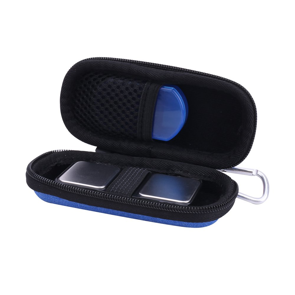 Hard Case for AliveCor Kardia Mobile ECG/EKG Monitor with Pill Organizer by Anellosi (Blue)