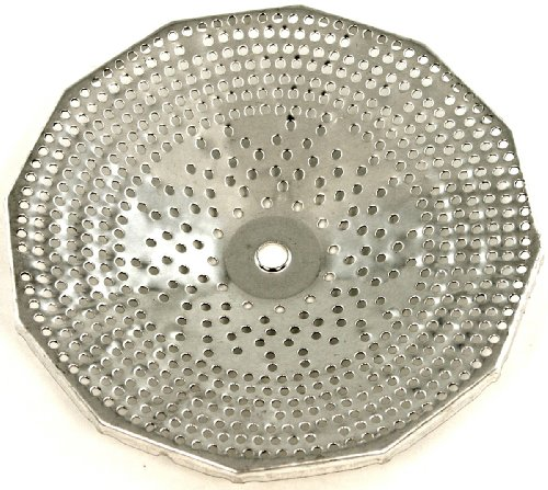 Paderno World Cuisine Sieve for 5-Quart Tin Food Mill with 3/32-Inch Perforations - Tin Food Mill