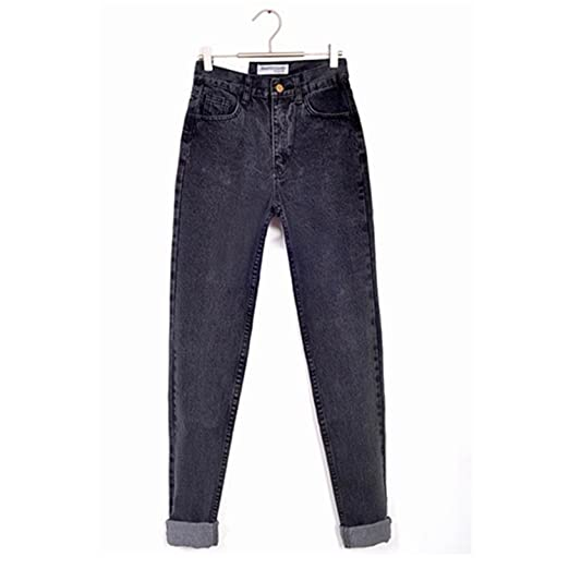 7be61520 Dormery New Vintage Black Boyfriend Jeans For Women High Waist Denim Jeans  Vintage Slim Mom Pencil Jeans Woman Denim Pants at Amazon Women's Clothing  store: