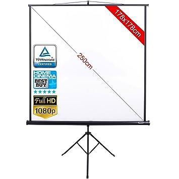 vetrineinrete® Toalla pantalla 99 pulgadas video proyector con ...