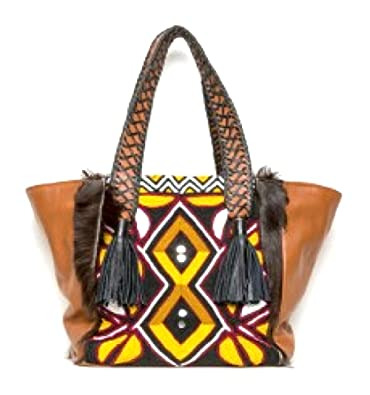 Amazon.com  Antik Batik Zenaba Cabas in Brown Tote Handbag  Shoes 36790064c966d