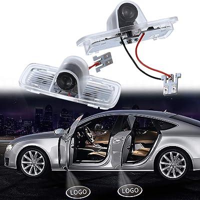 Welcome Light for Accord Crosstour Pilot Series LED Car Door Logo HD Car Door Lights for Honda Series Car Ground Lights 2 PCS: Automotive