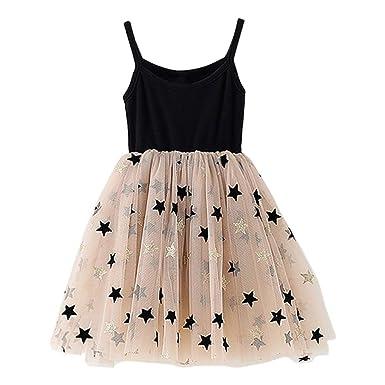Eshoo Baby Mädchen Tutu Kleid Ohne Arm Kleinkind Sommerkleid