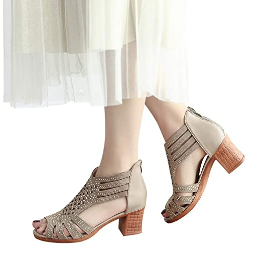 37cbc2d33dbb0 Amazon.com: Baiggooswt Shoes, Women Fashion Crystal Hollow Out Peep ...