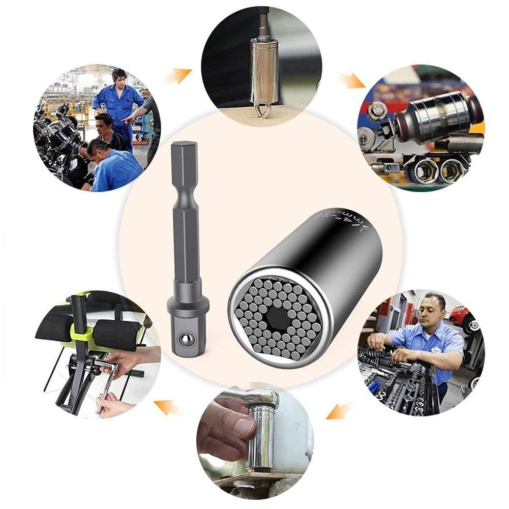 autoregulaci/ón para el Sector del autom/óvil con convertidor Llave de Vaso Universal de 7 a 19 mm combinaci/ón taladradora Mallalah Adaptador de Potencia