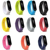 PINHEN Horlogebanden Compatibel met Xiaomi Mi Band 4 Bandje - Colorida Siliconen Vervangende Riemen voor Xiaomi Mi Band…