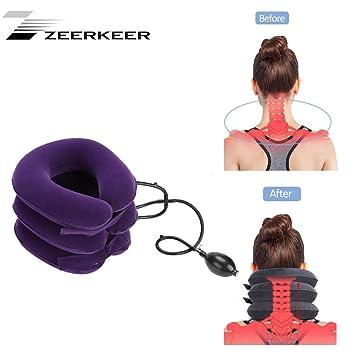 Cojín cervical hinchable de Zeerkeer, para el cuello, para ...