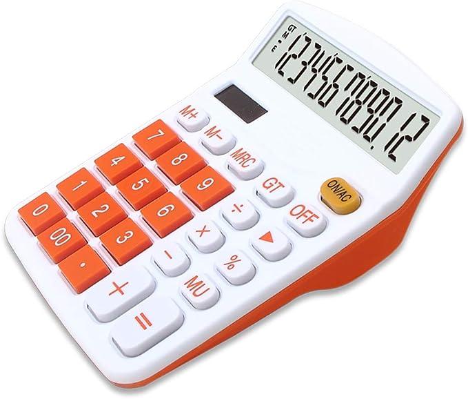 Mengshen Calculadora Sobremesa Batería Solar de Doble Potencia, 12 dígitos Pantalla LCD Grande Calculadora Financiera Calculadora Comercial de función estándar para Oficina/hogar/Escuela: Amazon.es: Hogar