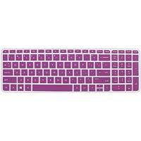 DealMux teclado protector de la piel cubierta de la película púrpura para HP Pabellón 15 del ordenador portátil