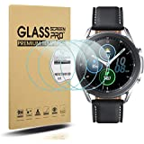 Suoman 4-Pack for Samsung Galaxy Watch 3 45mm Screen Protector Tempered Glass for Galaxy Watch 3 (45mm) [Anti-Scratch…
