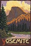 Half Dome Yosemite (9x12 Art Print, Wall Decor Travel Poster)