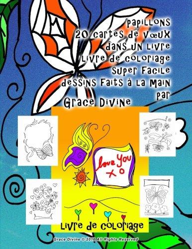 Papillons 20 Cartes De Vœux Dans Un Livre Livre De Coloriage