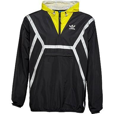 c72c5cea1e2 Adidas Originals Jacket Mens ZX Overhead Half Zip Cagoule Shell Black Yellow  Size Medium (Medium)  Amazon.co.uk  Clothing