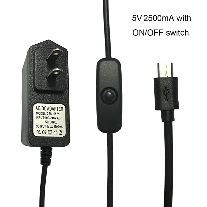 Amazon.com: Alimentación de 5 V 2.5 A Cargador de pared ...