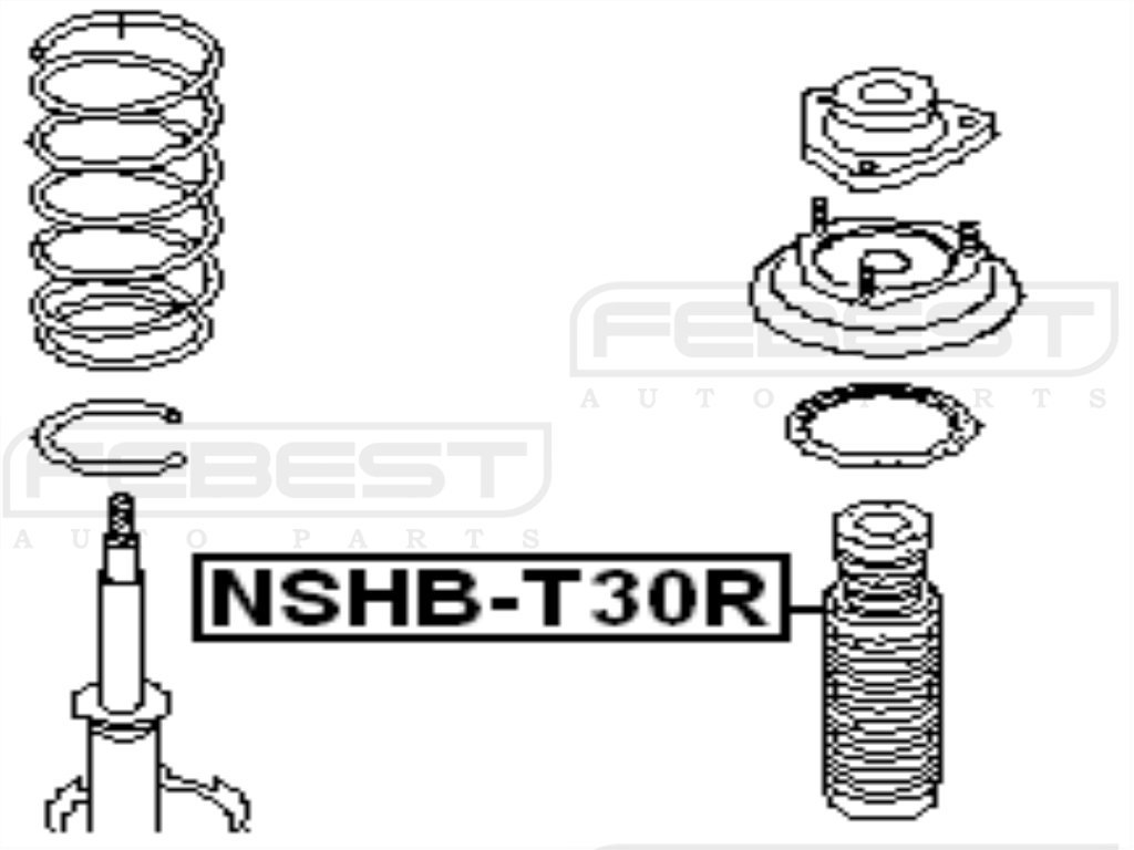 FEBEST NSHB-T30R Rear Shock Absorber Boot