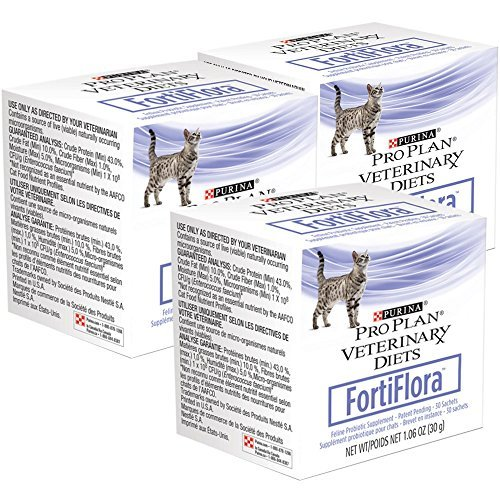90 Count Purina 3-Pack Fortiflora Feline Nutritional Supplement for Pets
