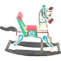 J.K.Toys&Enterprises Wooden White Color Horse Rocking Rider for Kids