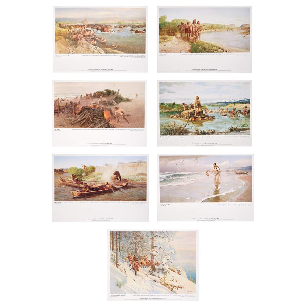 Lewis And Clark Ford >> Amazon Com Set Of 7 Posters Of The Lewis Clark Expedition