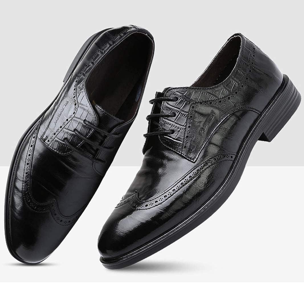 Männer Schnüren Sich Brogues Geschäft Kleid Schuhe Schwarz Ledermode Ledermode Ledermode Bequem schwarz 8c4cea