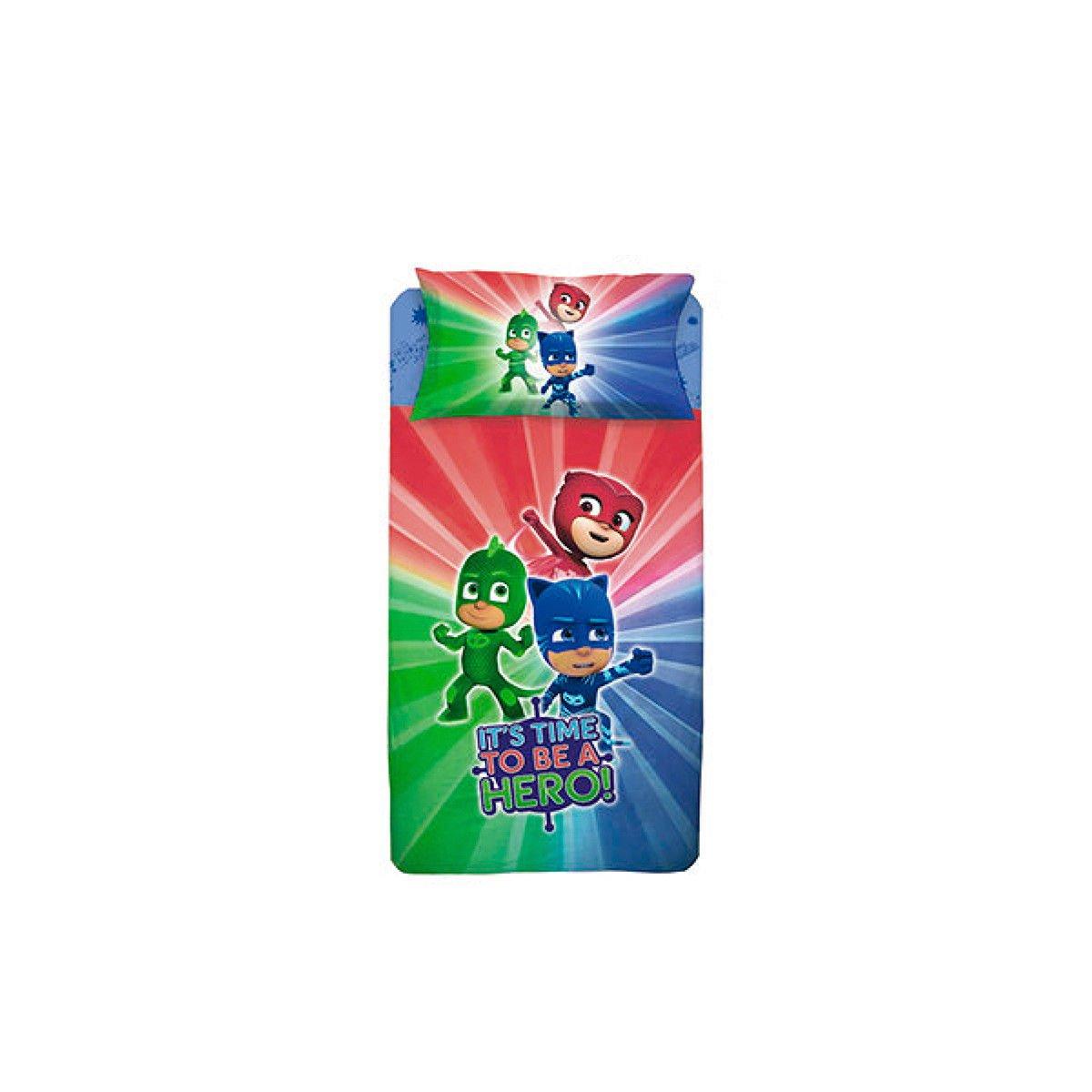 Completo sábanas Super pigiamini PJ MASKS para cama individual Una Plaza R290: Amazon.es: Hogar