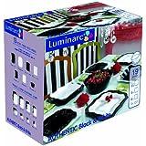 Luminarc 9226195 Authentic Service Assiettes 19 Pièces Diner Noir / Blanc
