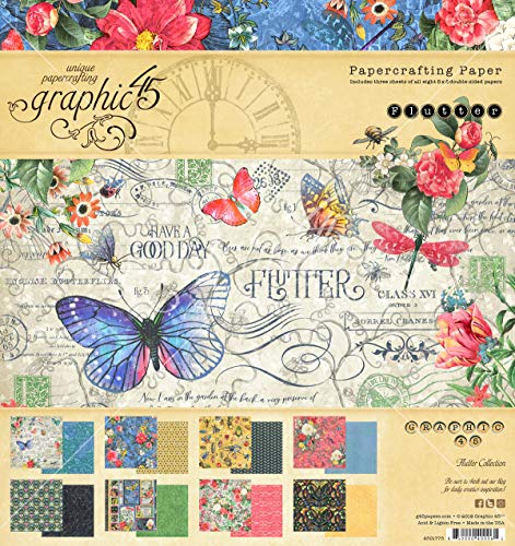 - Graphic 45 4501775 Fltr Paper Pad 8x8