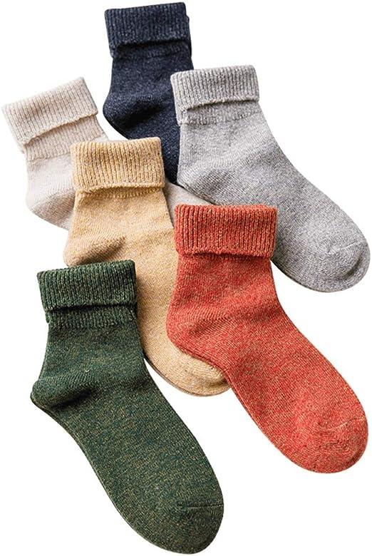 Mebeauty-sock Calcetines de algodón para Mujer Paquete de 6 ...