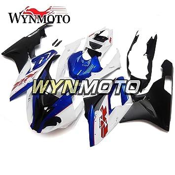 Inyección de plástico ABS wynmoto completa motocicleta embellecedores para BMW S1000RR año 2015 2016 azul blanco negro casco: Amazon.es: Coche y moto