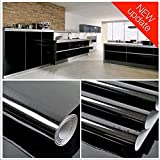 Still new Home Black Contact Paper Glitter Vinyl Contact Paper Self Adhesive Decorative Contact Paper Waterproof Stain-Resistant for Kitchen Counter Top Cabinets Wardrobe Furniture (15.8'' X 78.8'')
