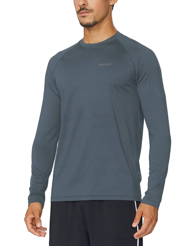 Baleaf Men's Cool Running Workout Long Sleeve T-Shirt Slate Grey Size L by Baleaf