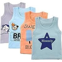 IPBEN De Vuelta a la Escuela Paquete de 4 Chalecos Infantiles para niños Algodón Puro, Tops Lindos, Camisetas sin Mangas…