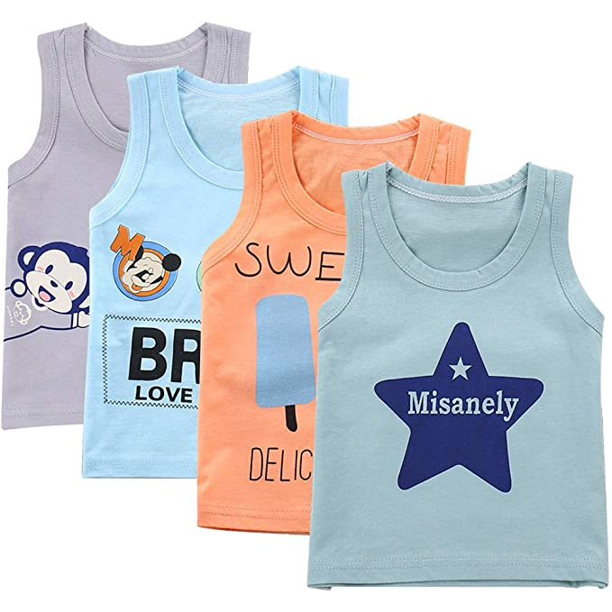 2-3 Years, Grey 5 Pack of Boys 100/% Cotton Vests