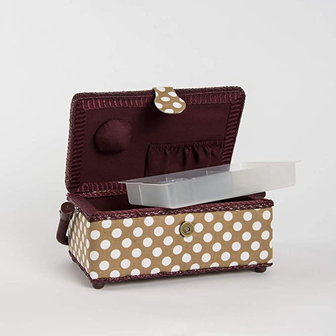 confezione taglia: M con bordo nero colore: bianco Prym-Cestino per il cucito in poliestere