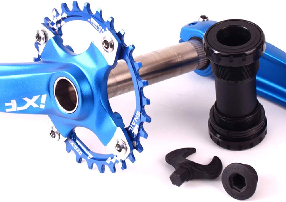 Bicycle Crank Arm Set 170mm 104 Bcd Aluminum Alloy with Bottom Bracket Kit Chainring Bolts for Mtb Bmx Road Bicycle silver