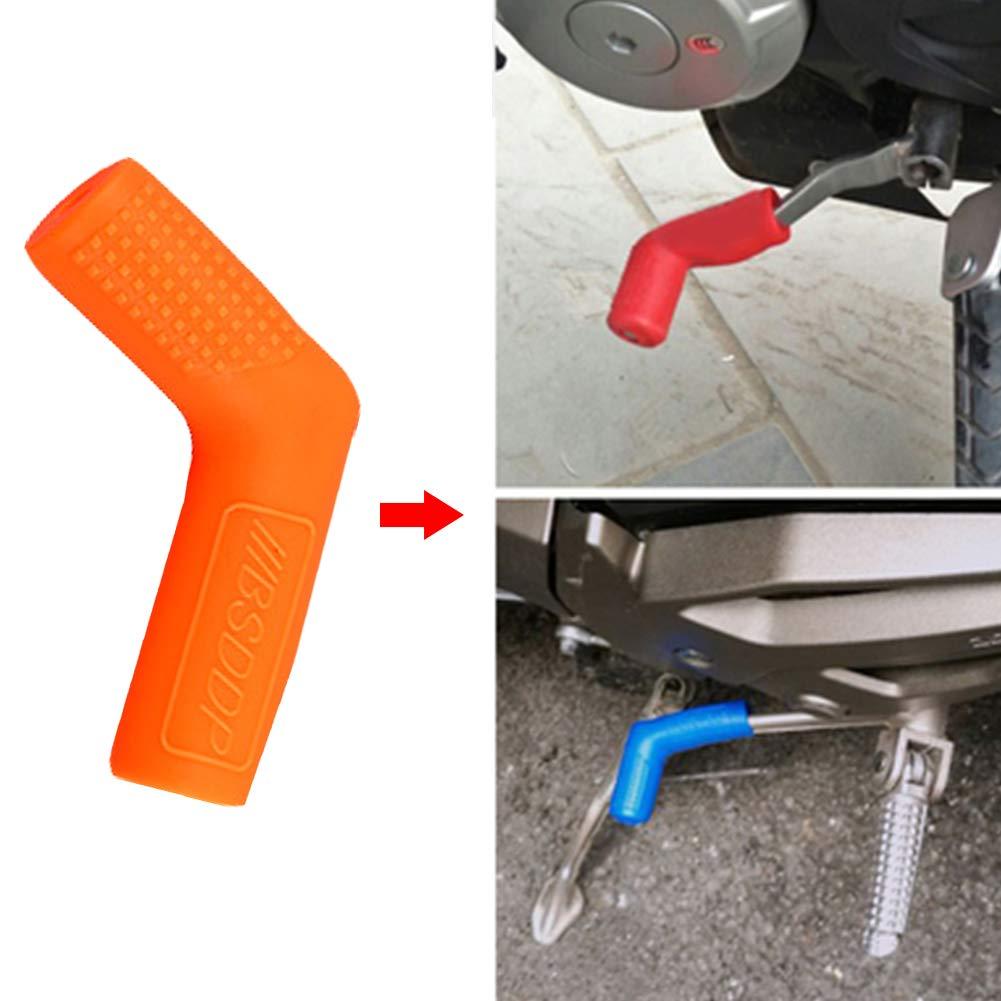 Gear Shift Motocicleta Cubierta Palanca de Cambio de Arranque Caja de Cambio de Zapatos Protectores de palillo de Engranaje Cubiertas Naranjas