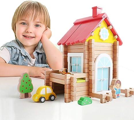 Windmill Log Blocks Wooden Building Set Construction Toy For Kids 171PCS