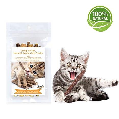 Hierba Gatera Gatuna Catnip Gato Juguete,Matatabi Juguete Masticar Gatito De Mascotas Limpieza Dientes Saludable