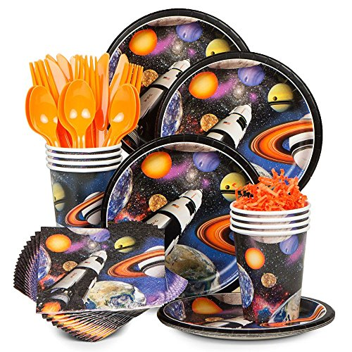 Costume SuperCenter Space Blast Birthday Party Standard Tableware Kit Serves 8 -