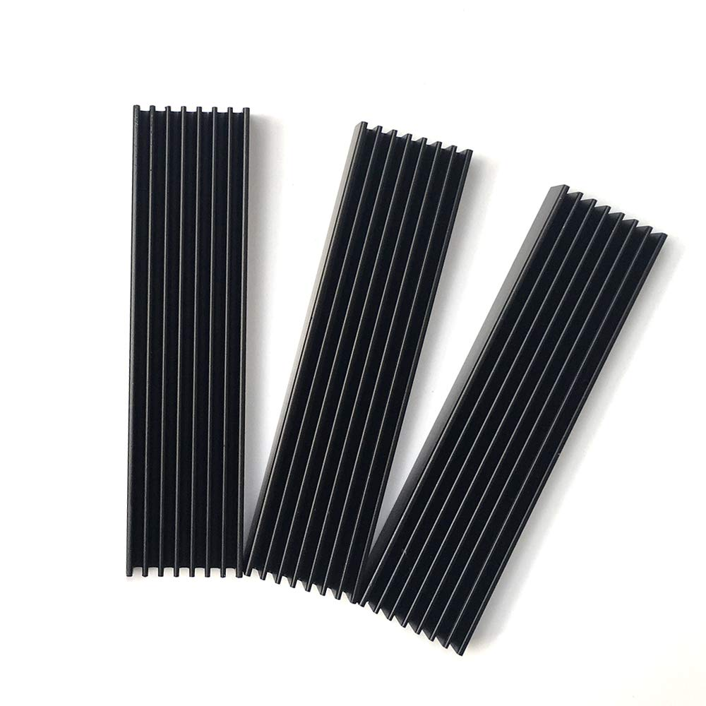Aluminium Router Heatsink 100x25x10mm 3 Pieces Black LED HeatSink