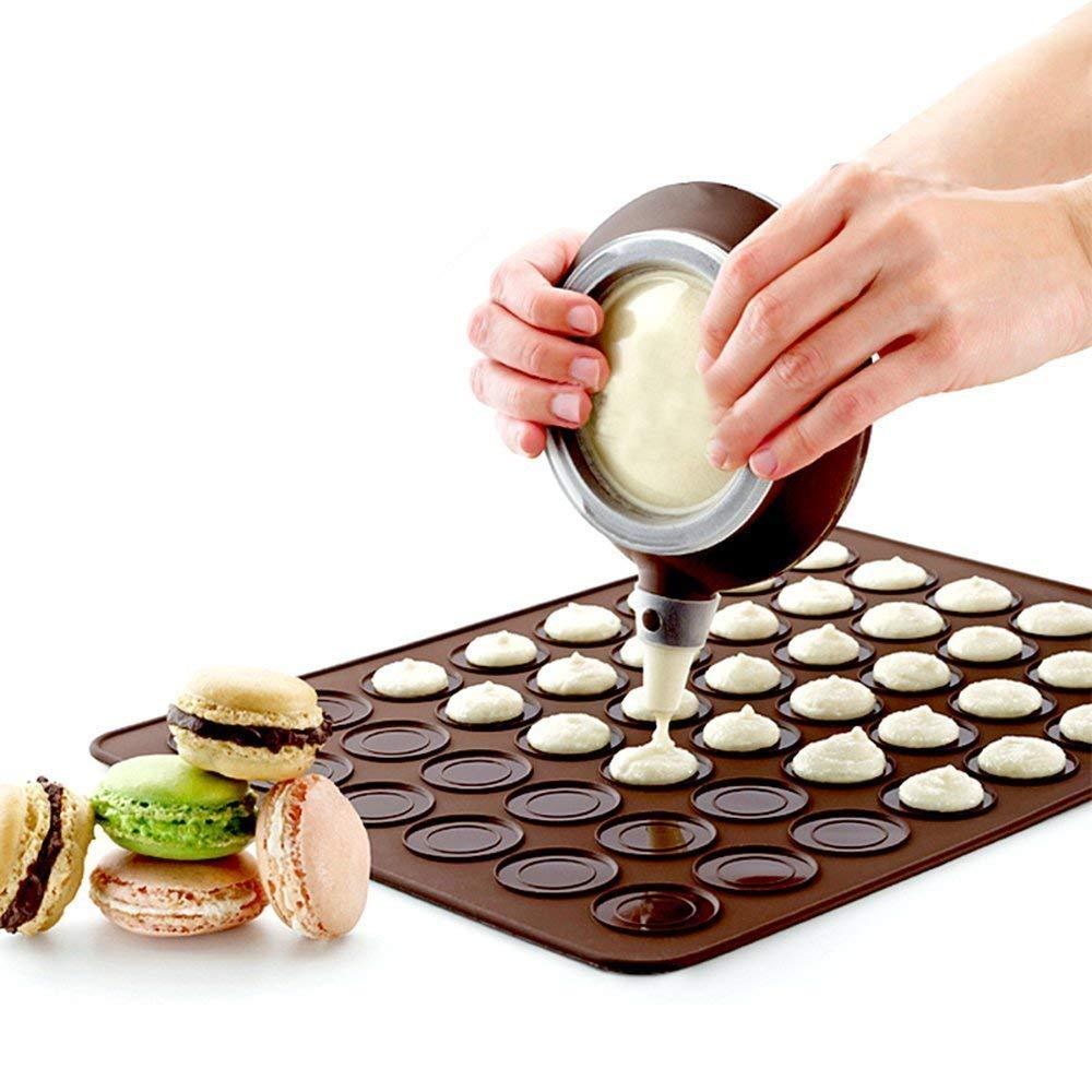 48 Capacity Macaron Silicone Baking Mat Mould Mode Decorating Pen ...