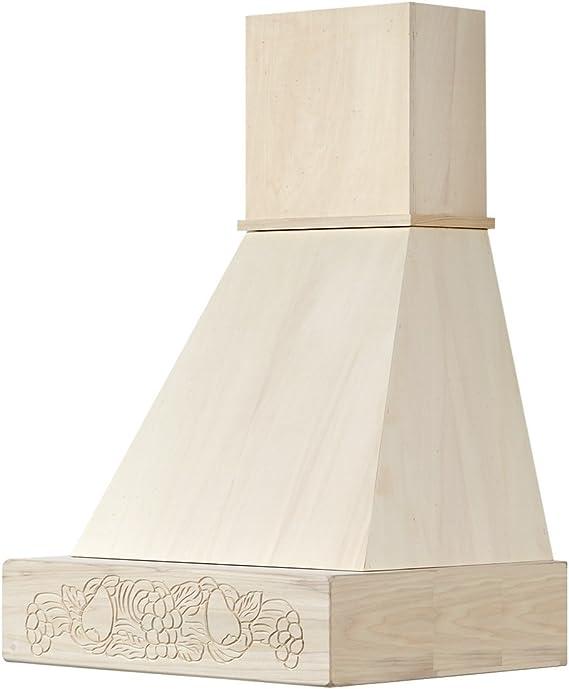 Campana cocina rústica madera mod. Fruta 60 de pared para pintar: Amazon.es: Hogar
