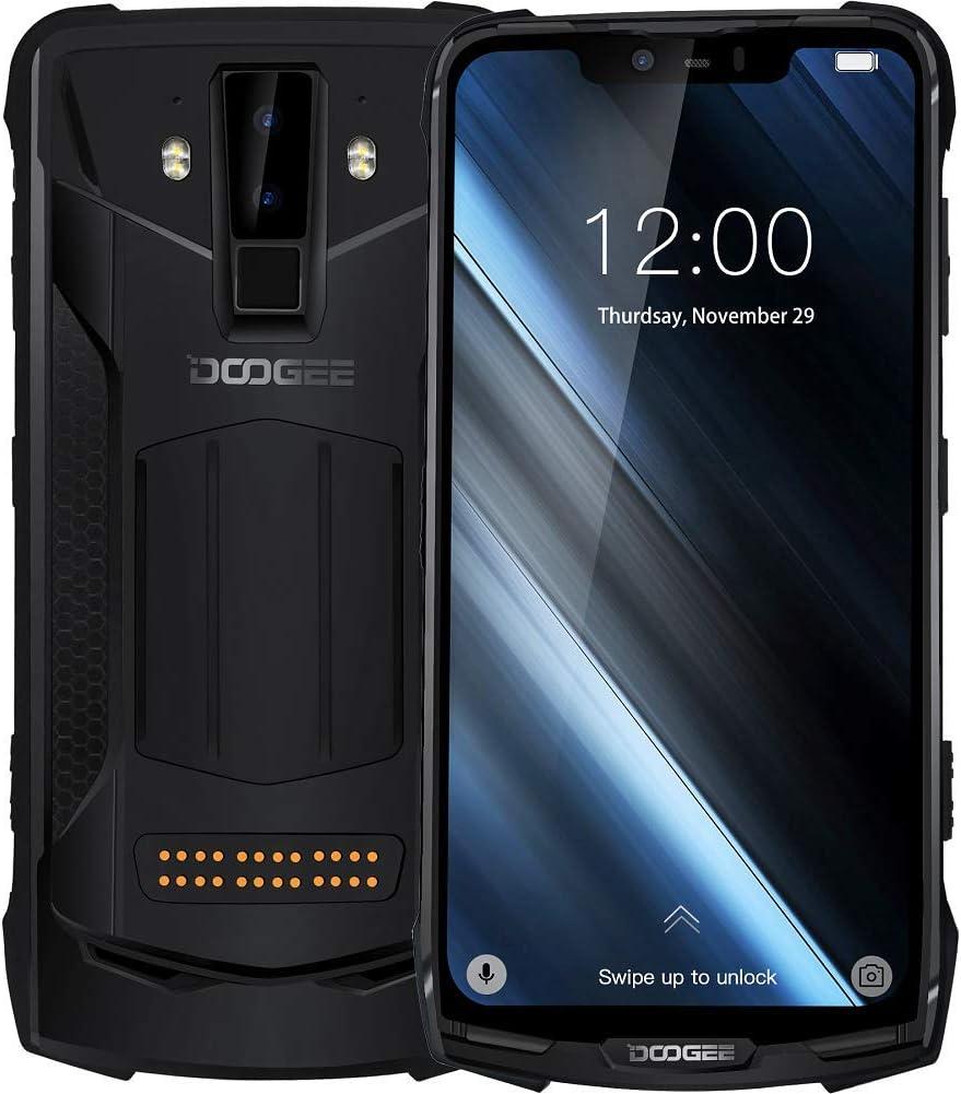 """DOOGEE S90 - IP68/IP69K Impermeable Móvil Libre 4G Dual SIM (batería de 10050 mAh),Helio P60 Ocho Núcleos 6GB+128GB, Android 8.1, Pantalla de 6,18"""" FHD+, Cámara Inteligente de 16MP + 8MP: Amazon.es: Electrónica"""