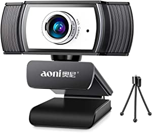 AONI 1080P HD Webcam with Microphone,Webcam Streaming Computer Web Camera -USB Computer Camera for PC Laptop Desktop Conferencing, Video Calling,Recording,Gaming