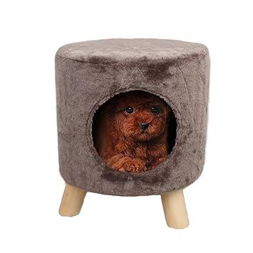 Casa [perros pequeños] Camada de gato Mascota Suministros] Gato Casa Extraíble Casa de