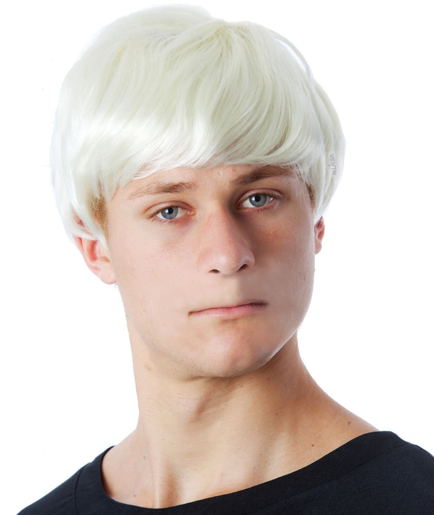 Mens Short Blonde Wig - Draco Malfoy Costume for Kids, Andy Warhol Wig Adults