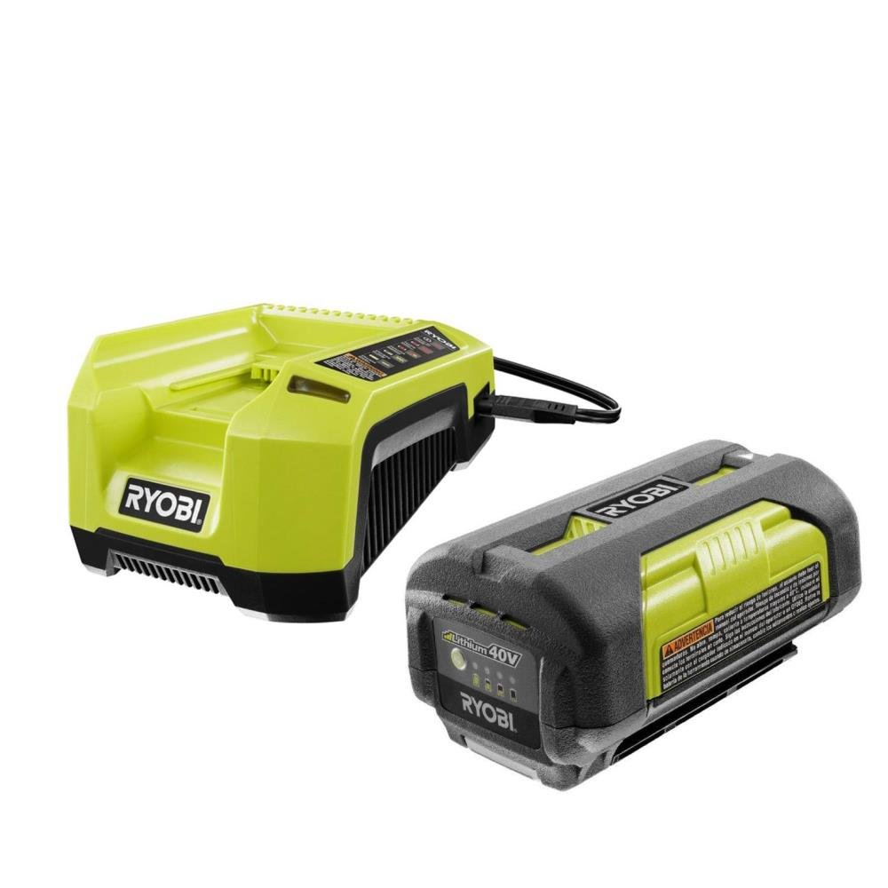 Ryobi OP4026 40-Volt Lithium-ion Battery and OP400A 40 Volt Lithium-ion Charger