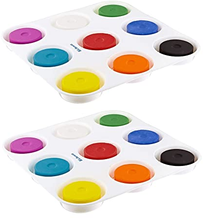 amazon com sax non toxic giant tempera paint cakes with tray 2 1