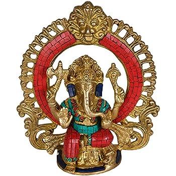 Amazon Com Lord Ganesh Statue Hindu God Ganesha Brass